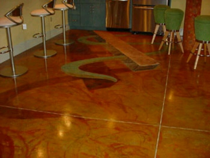 Unique Basement Concrete Floor Painting