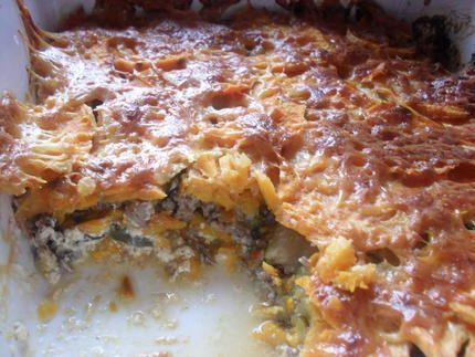 Gratin+de+patates+douces,+courgettes+et+viande+hachée
