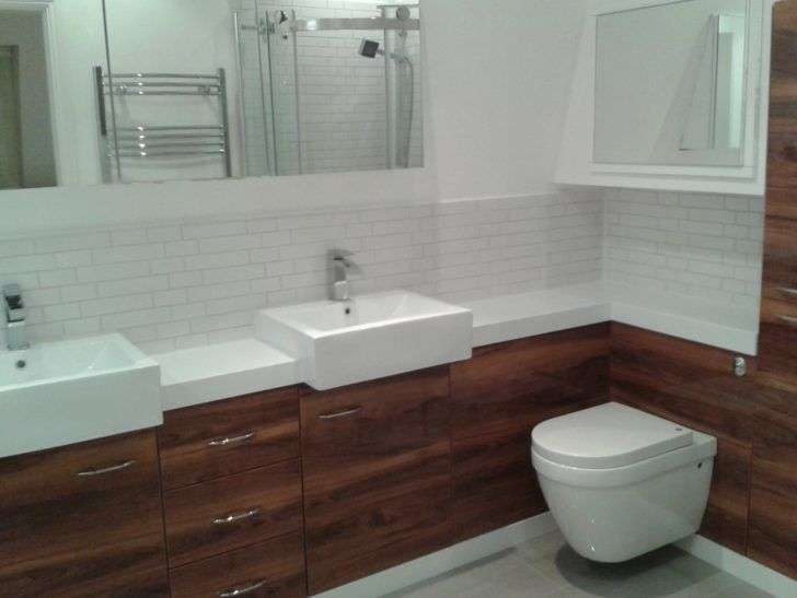 Photo Gallery For Photographers White brown bathroom design and decoration using square white ceramic bathroom vessel sinks including dark brown vanity teak bathroom furniture and mount