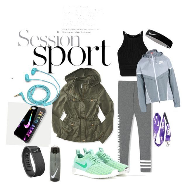 """""""Session Sport"""" by antonella-ienna on Polyvore featuring moda, NIKE, Aéropostale, Fitbit, FOSSIL, women's clothing, women, female, woman e misses"""