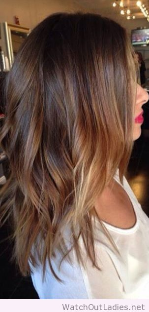 Amazing brunette balayage highlights