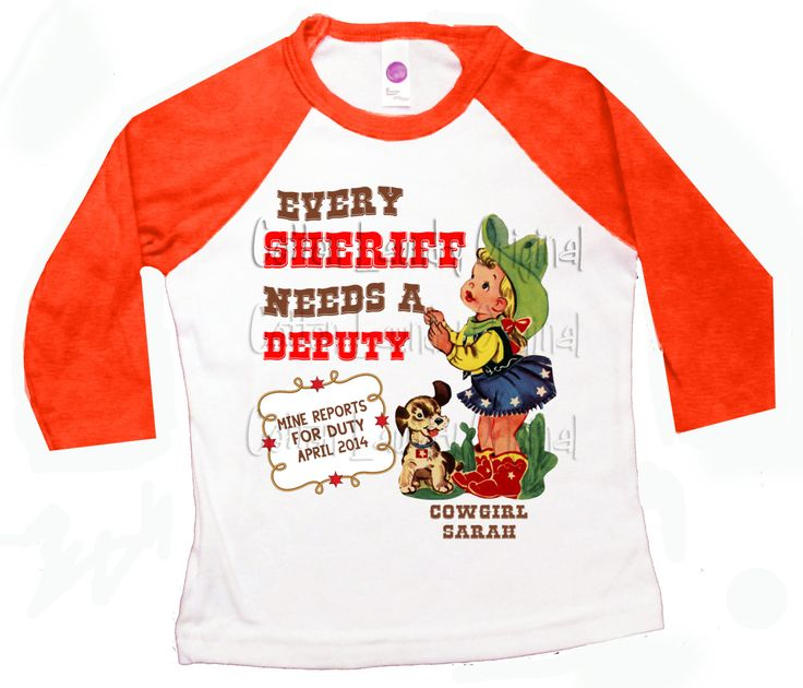Western big sister shirt big sister to be western pregnancy announcement Every Sheriff needs a Deputy by CottonLaundry on Etsy
