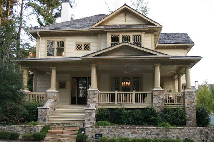 Vickery residence traditional exterior atlanta for Craftsman style homes in atlanta