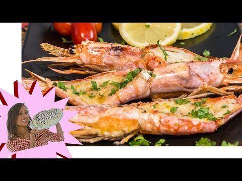 Gamberoni gratinati / Tutorial ricetta - YouTube