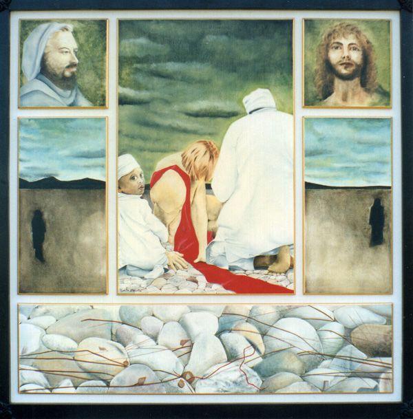 Il Buon Samaritano - Museo d'Arte Sacra, Chiampo (Vi) - Polittico olio su tavola 100x100