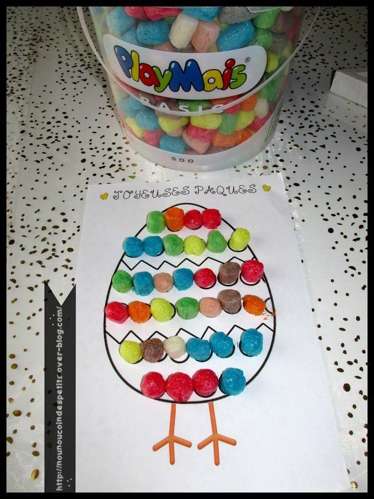 .. Oeuf de Pâques en playmais ..