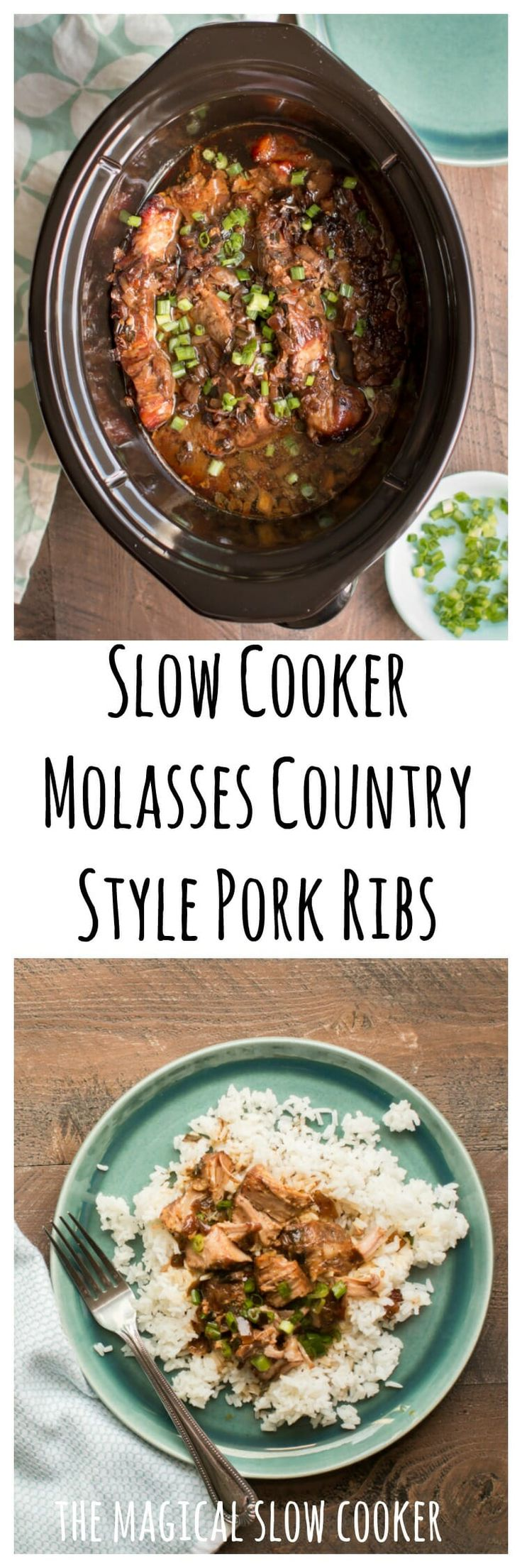 Slow Cooker Molasses Country Style Pork Ribs #crockpot #slowcooker #ribs