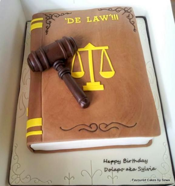Legal-themed cake