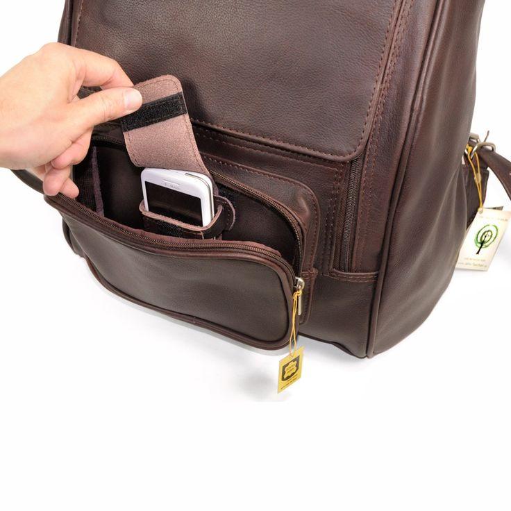 Jahn Tasche – Großer Lederrucksack / Laptop Rucksack bis 17 Zoll, Braun, Modell 711 kaufen
