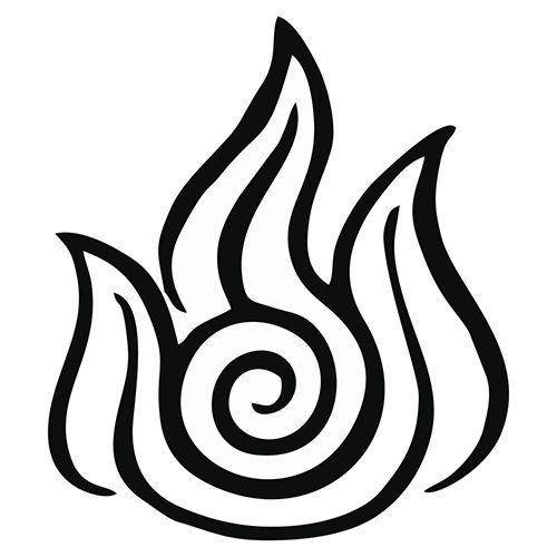 Avatar Fire Nation Symbol Die Cut Vinyl Decal PV1910