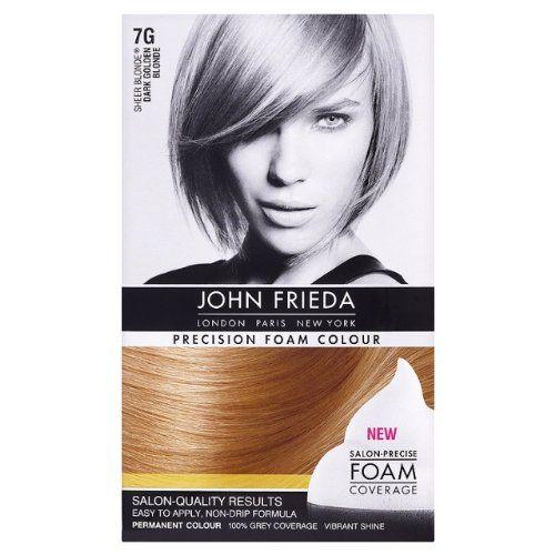 john frieda precision foam colour coloration permanente dark golden blonde 7g blond - Coloration Permanente