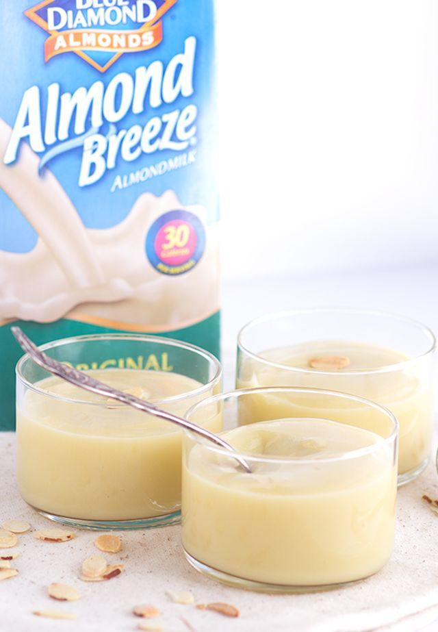 Almond Pudding - delicious and creamy almond pudding that's made with almond milk!