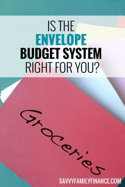 The envelope budget system can help you organize your finances and control spending. #budget #envelope #system