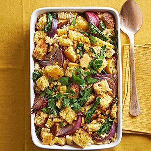 Double Corn-Cornbread Stuffing From Better Homes and Gardens, ideas and improvement projects for your home and garden plus recipes and entertaining ideas.