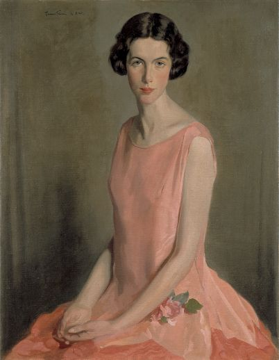 The Artist's Wife, 1925 by Sir Herbert James Gunn (1893-1964). He served in The Artists Rifles.
