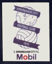 MOBIL 1983-SILK FOOTBALL CLUB CRESTS- #03-BIRMINGHAM CITY