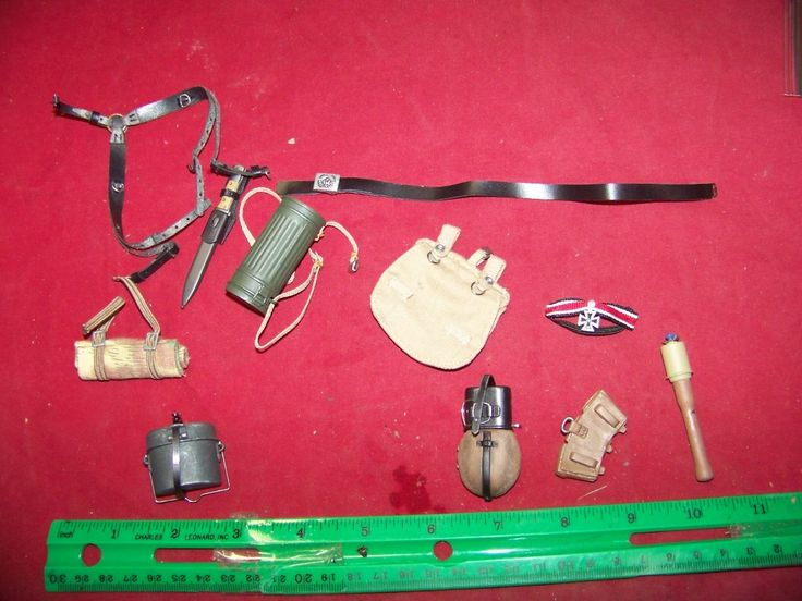1/6th Scale German Army Belt, Suspenders, Pouch & More #8