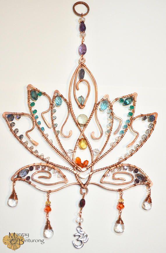 SALE Super Sparkly Lotus Blossom gemstone suncatcher Chakra