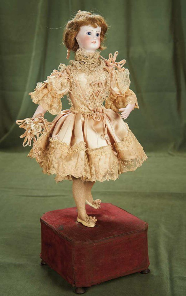 """Lot: 20"""" (51 cm.) French Bisque Musical Automaton of Ballerina by Roullet & Decamps 3000/5000 