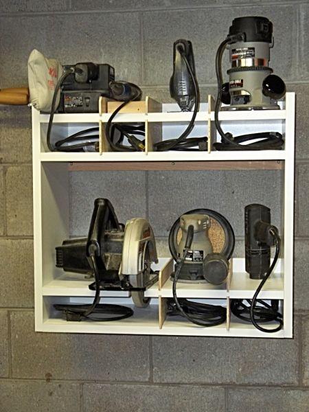 ❧ Power Tool Storage Shelf