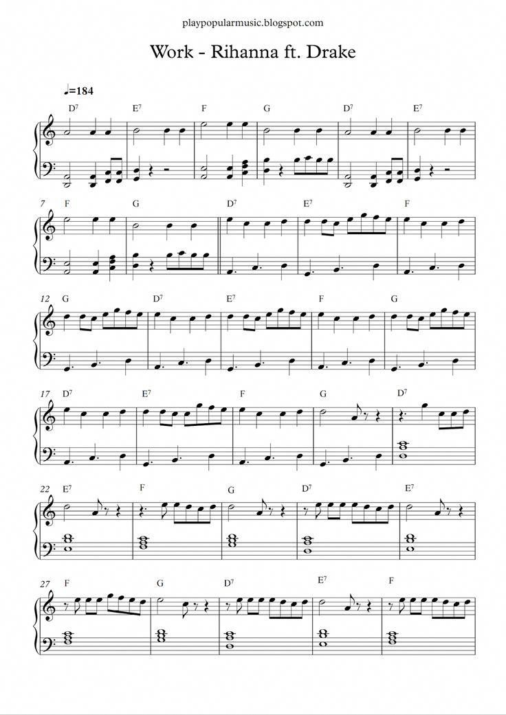 Easy And Popular Piano Sheet Music With Images Guitar Chords
