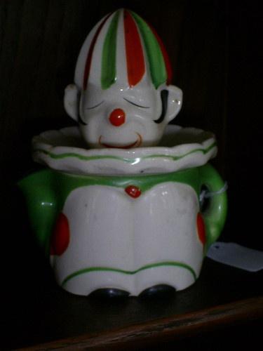 Vintage Japan Pottery Juicer Reamer Clown