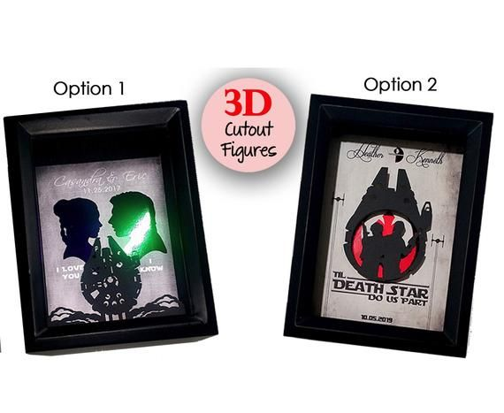 3D Personalized Star Wars Wedding Gift For Couple, One 1 Year Anniversary Gifts For Boyfriend, Gift,