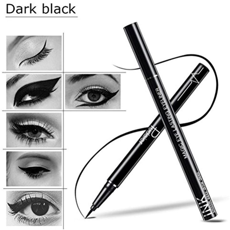DZT1968 1pc 13cm Natural Waterproof Beauty Makeup Cosmetic Eye Liner Pencil Black Liquid Eyeliner Pen Black -- Find out more about the great product at the image link. (This is an affiliate link) #TattooInks
