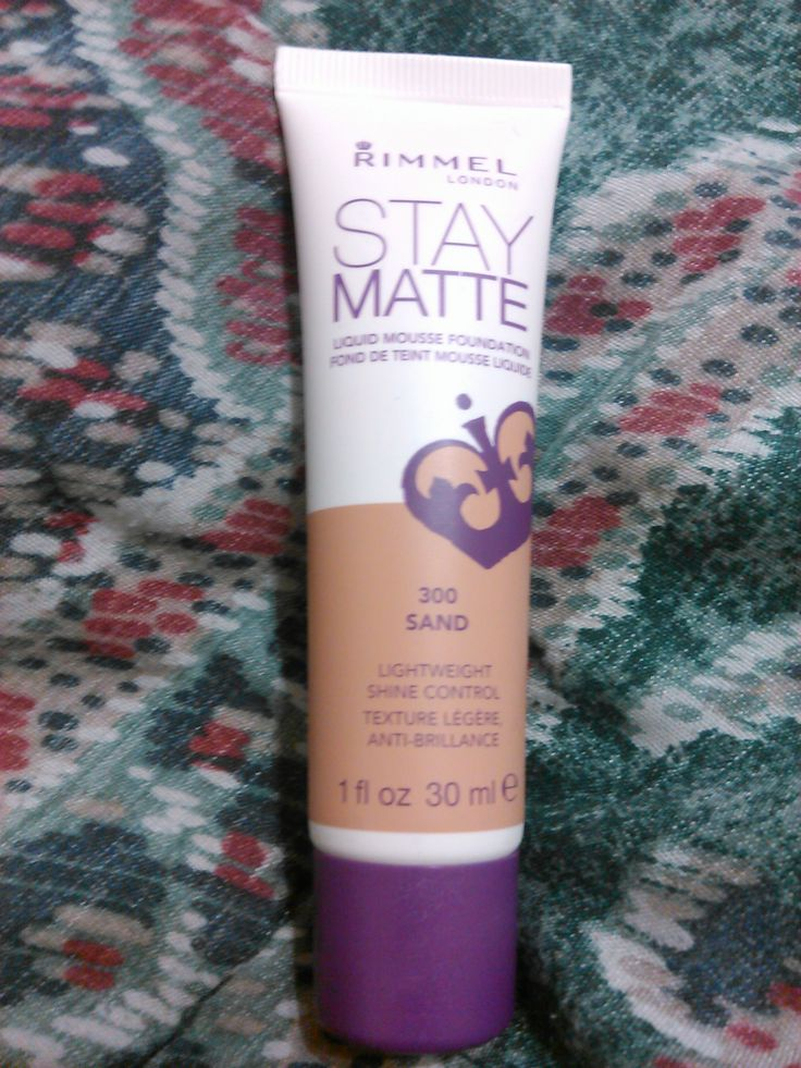 Rimmel London Stay Matte Foundation. Not quite my shade, but still glad to receive!