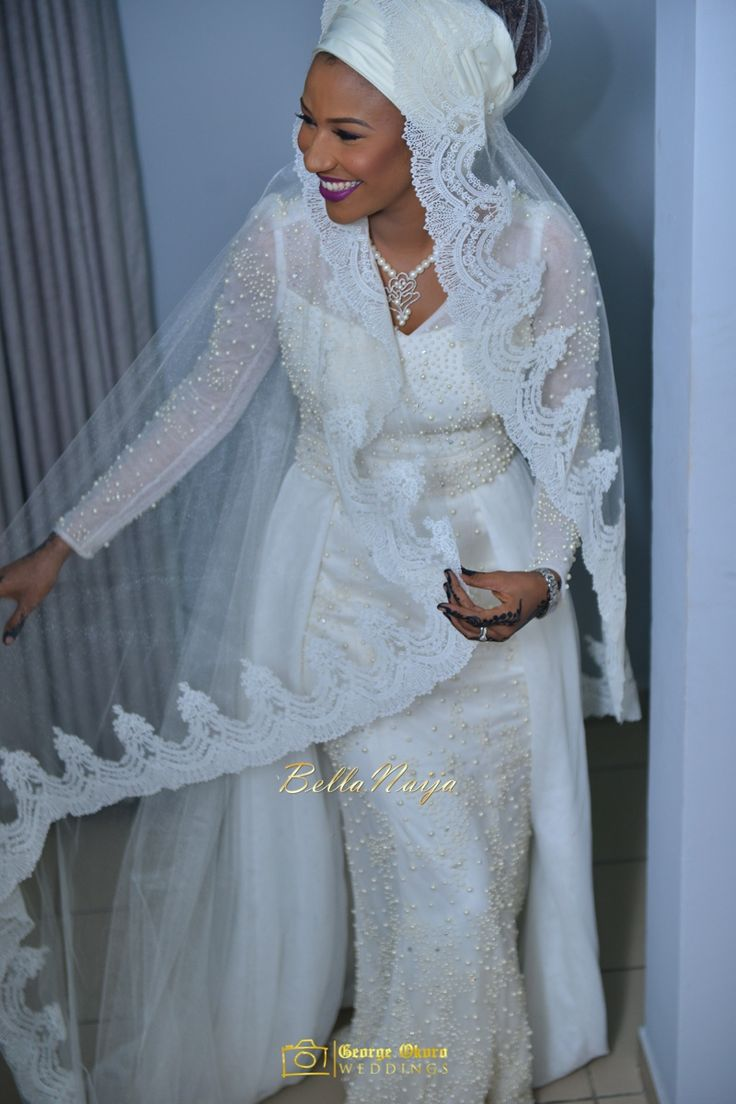 Bride's Wedding Dress Regalia by Hudayya Couture | Maryam & Hon Abdulmumin's Spectacular Outdoor Wedding | George Okoro