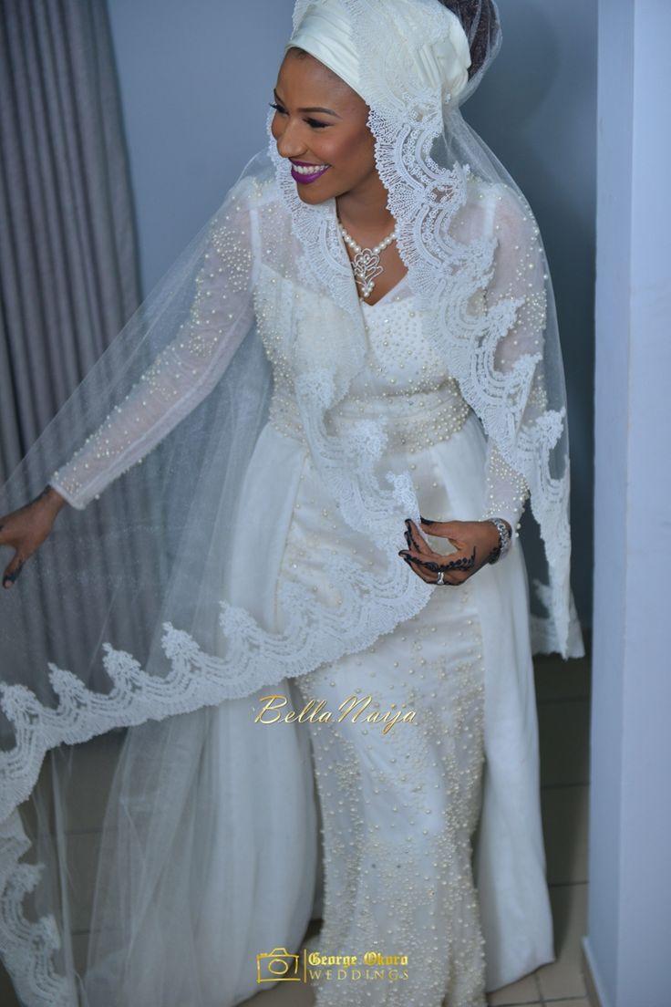 Bride's Wedding Dress Regalia by Hudayya Couture | Maryam & Hon Abdulmumin's Spectacular Outdoor Wedding | George Okoro