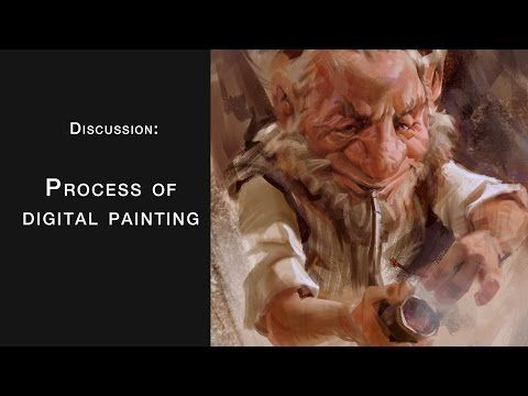 Process of Digital painting - YouTube