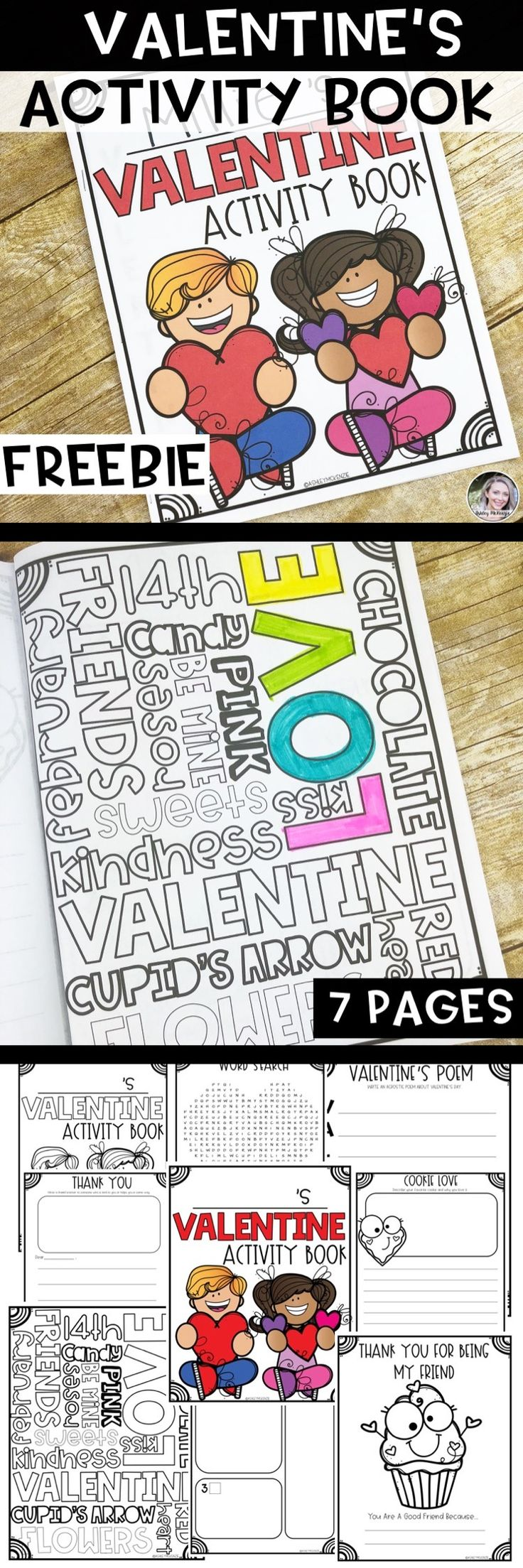 Free Valetnine's Activity Book for 1st-4th graders! Great for early finishers and easy prep!