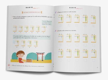 Pack matemáticas ábaco 1- Cuadernos para aprender matemáticas con ábaco japonés. Cuadernos rubio.  www.rubio.net