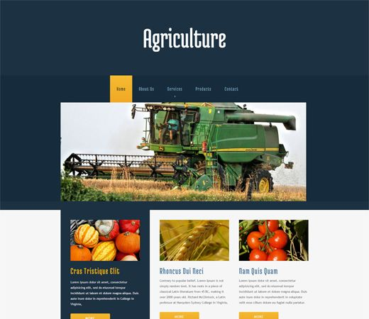 Free website template CSS HTML5 Agriculture Mobile Website Template