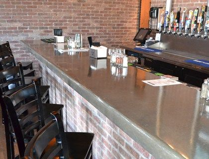 Brick Bar With Polished Concrete Counter Top Love It