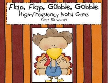 Really fun Thanksgiving high-frequency word game.