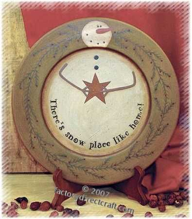 Primitive Snowman Plates with Sayings Set of 3 - Decorative Plates and Bowls - Primitive Decor & 119 best Crafts - Plates Pottery images on Pinterest | Christmas ...