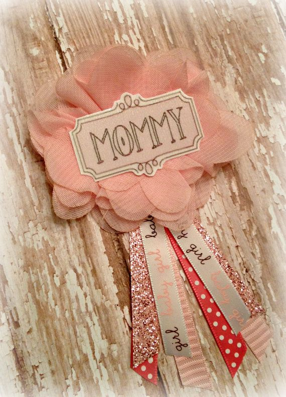Pink Baby Shower Badge by EllieKattCollection on Etsy  Dif color though obviously