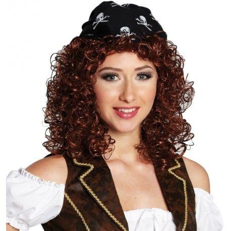 Perruque pirate femme avec bandana
