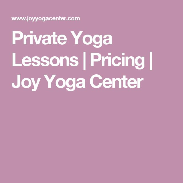 Private Yoga Lessons | Pricing | Joy Yoga Center