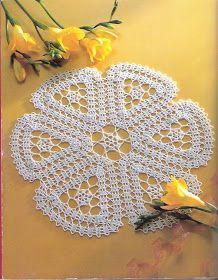 Solo esquemas y diseños de crochet: MANTEL REDONDO ENCAJE DE BRUJAS