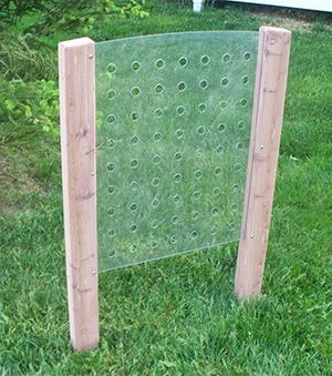Children can intertwine various materials through this outdoor Weaving Panel, such as ribbon, yarn and string. This unique piece of outdoor learning equipment allows children to use their imaginations to create an artistic design with the weaving materials.