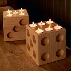 dice tea lights would be fun in a game room - Tea Light Candle Holders
