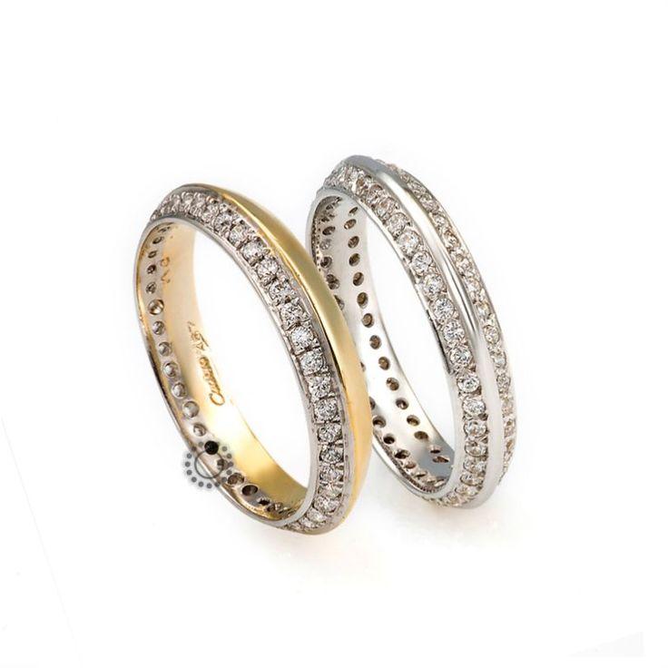 Βέρες γάμου Facadoro 17Α/17Γ - Ένα εντυπωσιακό σχέδιο από βέρες FaCadoro με διαμάντια | Κόσμημα-Ρολόι ΤΣΑΛΔΑΡΗΣ στο Χαλάνδρι #βέρες #βερες #γάμου #διαμάντια #facadoro #tsaldaris