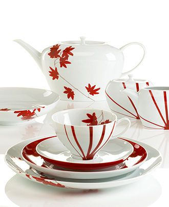 Mikasa Dinnerware, Pure Red Collection - Fine China - Dining & Entertaining - Macy's
