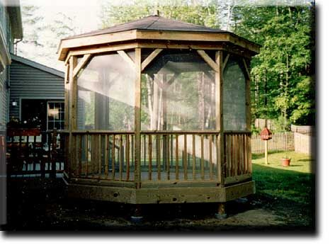 screened gazebos leisure woods residential u0026 commercial gazebos and three cedar gazebos are offered to you by - Screened Gazebo