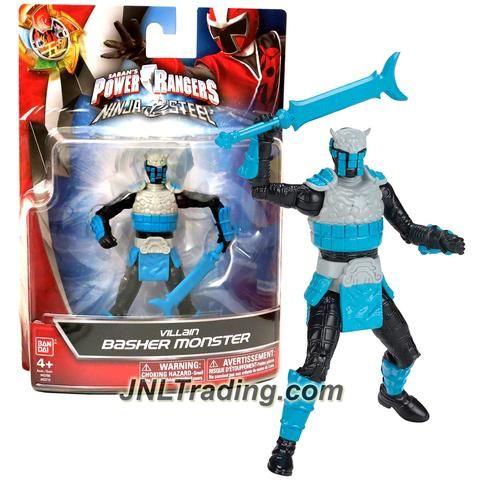 Bandai Year 2016 Saban's Power Rangers Ninja Steel Series 5 Inch Tall Action Figure - Villain BASHER MONSTER