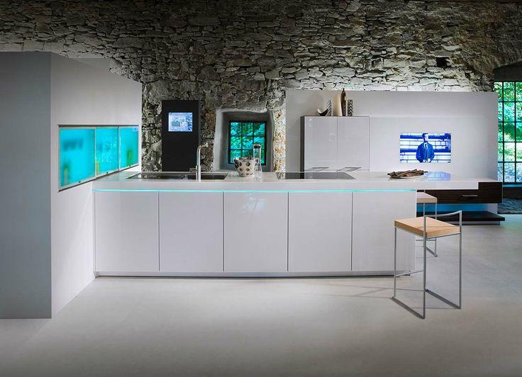 moderne Küche ohne Griffe