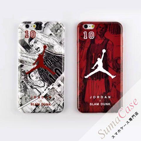 エアジョーダン ブランド iPhone7Sケース AIR JORDAN × SLAM DUNK 2014 コラボ 桜木花道 スラムダンク コミック 漫画 バスケ風 iPhone8 iPhone7 iPhone6S/6 Plus カバー型 TPUソフトケース
